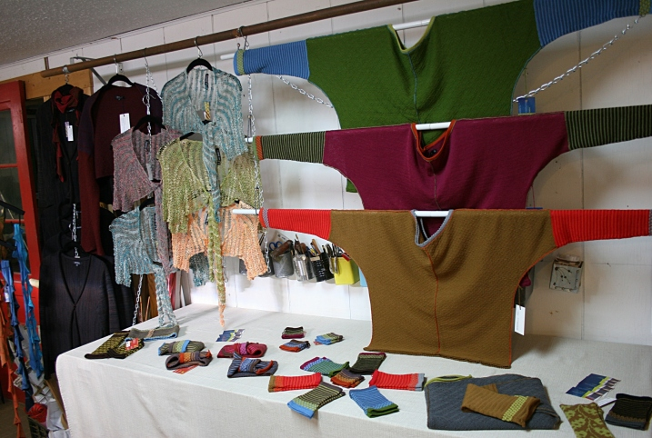 Samples of Baldry's knitted textiles.