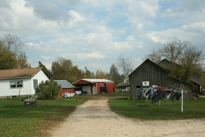 An Amish farm in central Wisconsin, photographed on Friday, October 11, 2013.