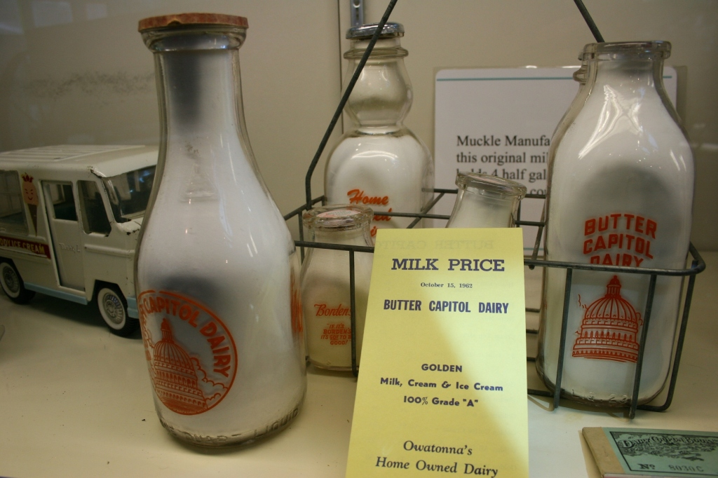 Information and artifacts from the days of bottled milk delivery.