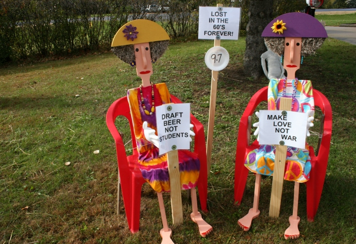 Scarecrows making a statement.