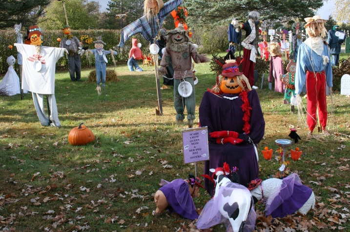 Visitors can vote for their favorite in the scarecrow festival with cash prizes awarded to the top three.