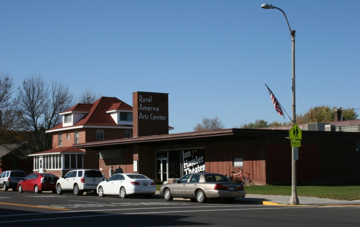 The Jon Hassler Theater and Rural America Arts Center in downtown Plainview.