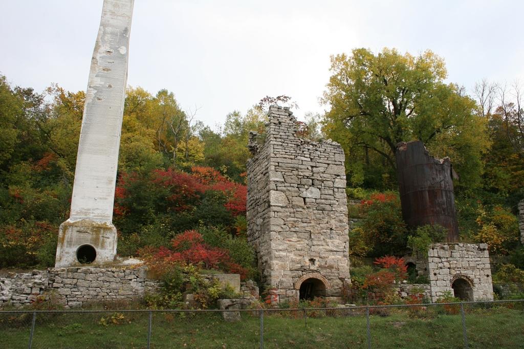 Kiln ruins.