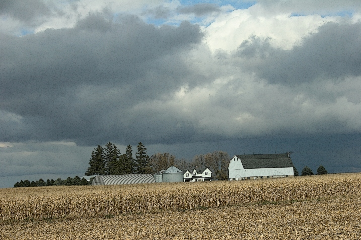 A sense of history defines this farm in that strong barn which dominates.
