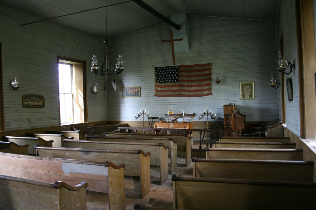 Jeremiah Fowler Stevens built and donated the pews.
