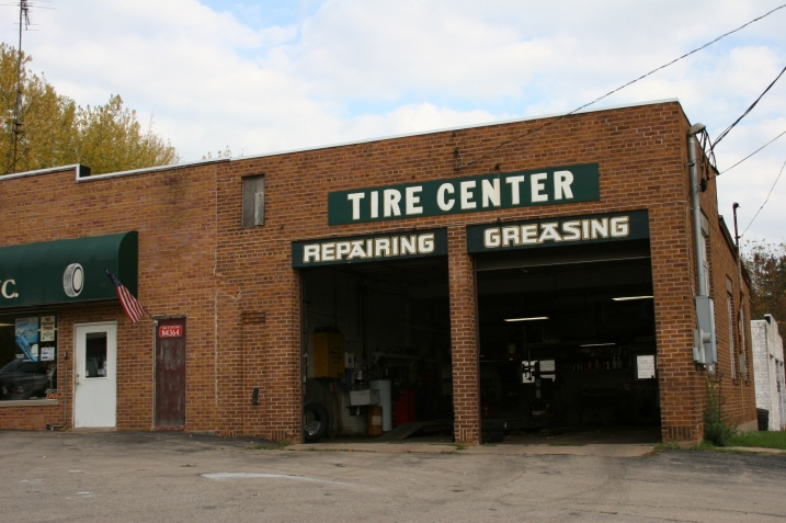 As we drive by the Tire Center, I snap this photo.