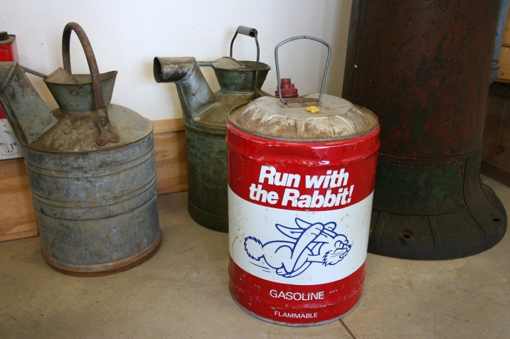 The gas can in my brother Brian's garage that my siblings and I covet because we attended Wabasso High School. Our mascot was a white Rabbit.