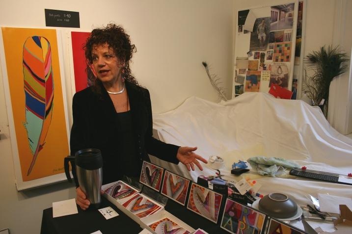 Julie Free Heart talks about her bold art.