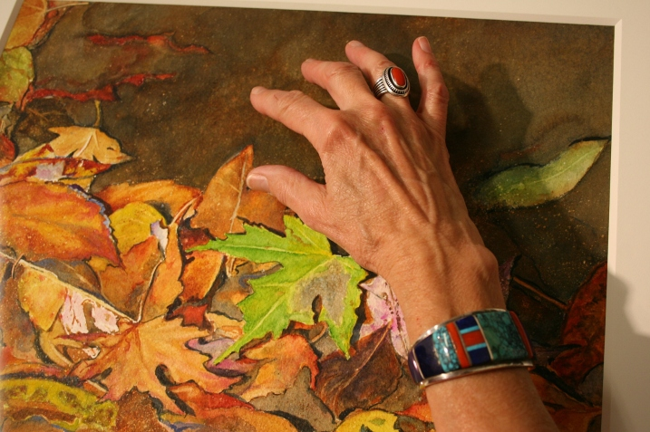Watercolorist Kathy Miller shows me Leafscapes.