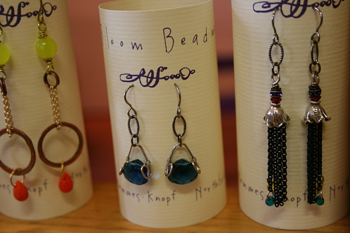 An example of Sue's original earrings.