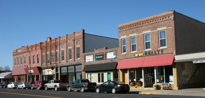 A snippet of Plainview's downtown.