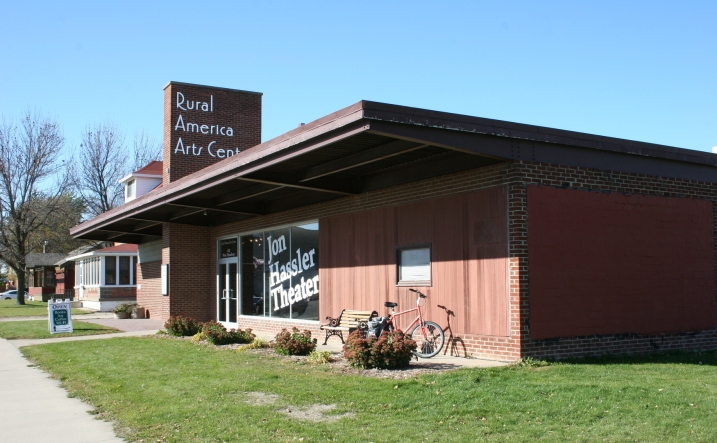 In the heart of the community, the Jon Hassler Theater and Rural America Arts Center.