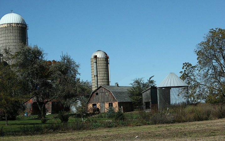 An old-fashioned farm along Wisconsin Highway 21.