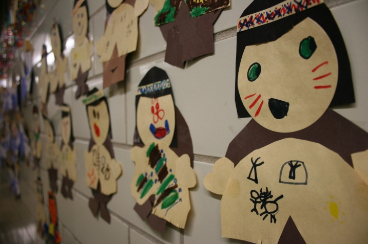 Students' versions of Native Americans.