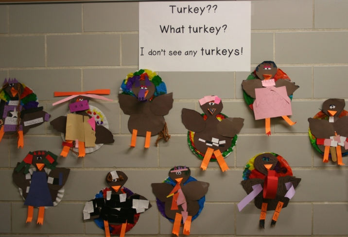 Here, here are the turkeys.