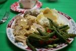 Christmas dinner, platedfood