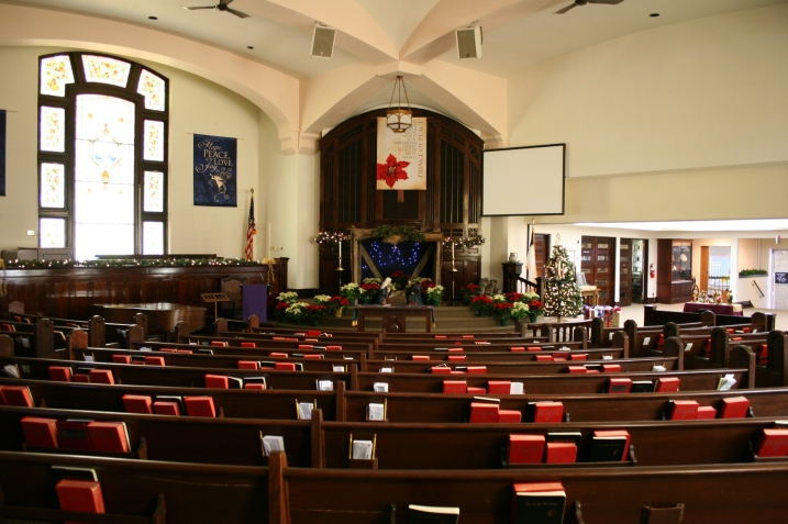 Christmas, Fourth Ave UMC sanctuary