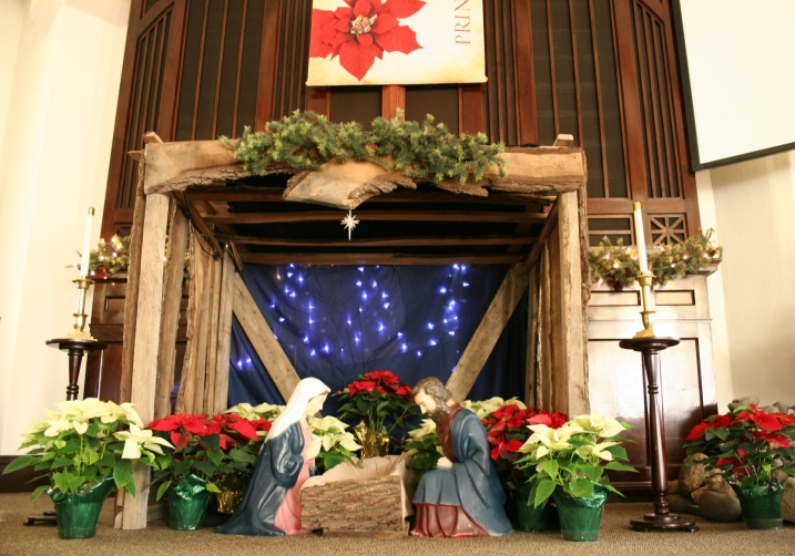 Christmas, sanctuary Nativity