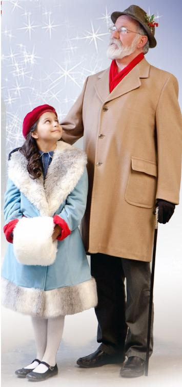 Malia Hunt as Susan Walker and Jerry Fox as Kris Kringle. Photo by Betsy Cole Photography and courtesy of the Paradise Center for the Arts.