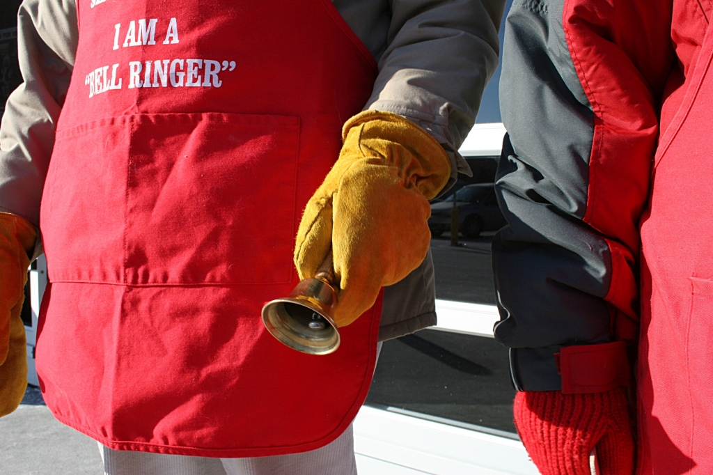 Gary and Barb work the 10 a.m. to noon bell-ringing shift at Walmart south.