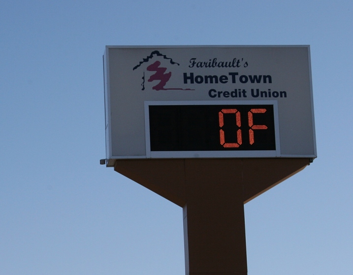 The temperature at 11 a.m. Saturday in Faribault, just an hour before Randy and I began ringing bells.