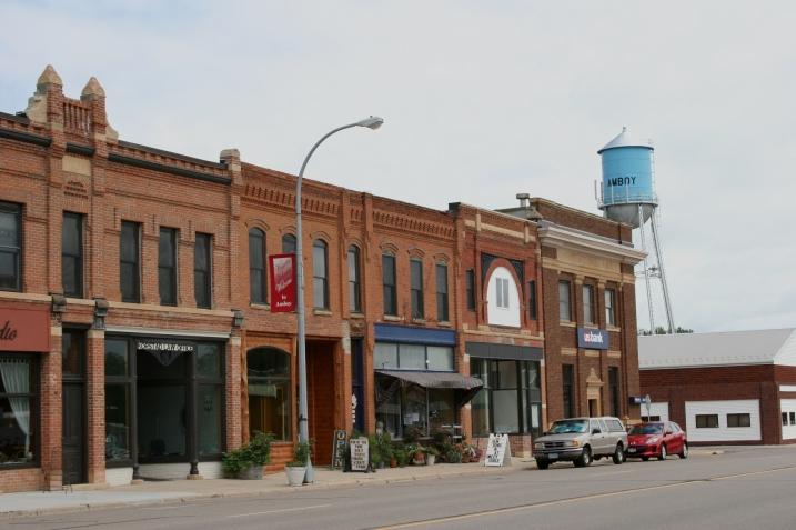 A snippet photo of downtown Amboy, Minnesota.