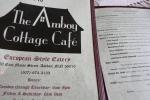 Amboy Cafe, menu