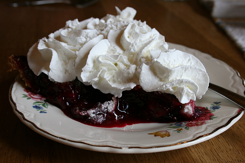 We couldn't pass on the homemade blackberry pie.