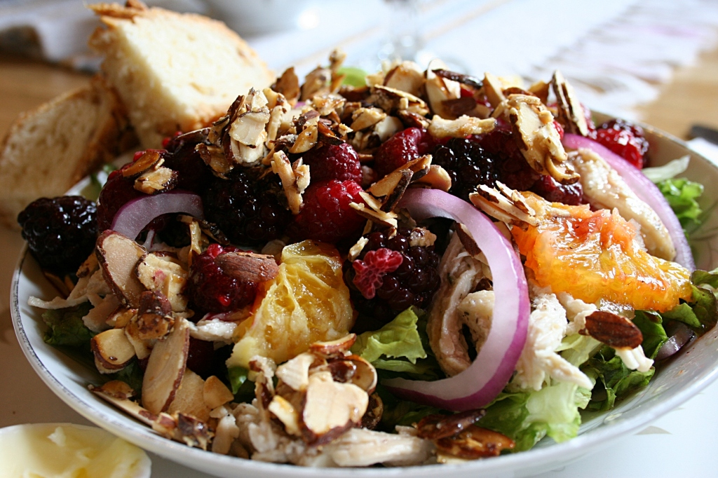 My incredible raspberry chicken salad.