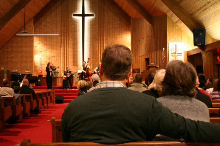 A rapt audience at St. Luke's.