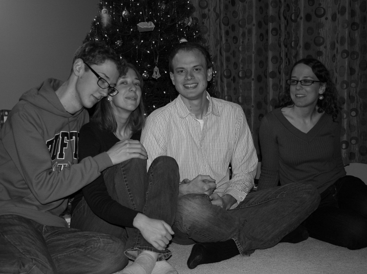 The son, left, the eldest, the son-in-law and the second eldest daughter.