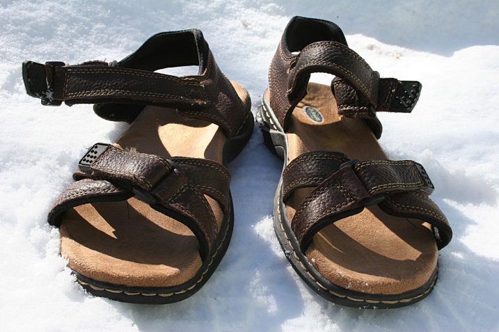 Imagine wearing sandals right now outdoors in Minnesota.