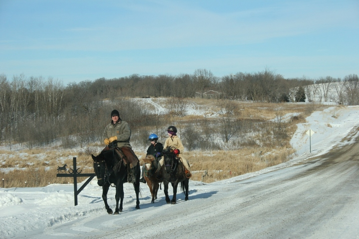 Sunday proved a perfect day for this family to ride their horses.