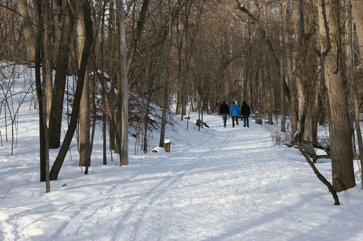 And we ended our drive with a walk along the snowy trails at River Bend Nature Center in Faribault.