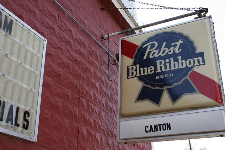 Signage on the Canton pub near the Iowa border. Minnesota Prairie Roots file photo 2012.