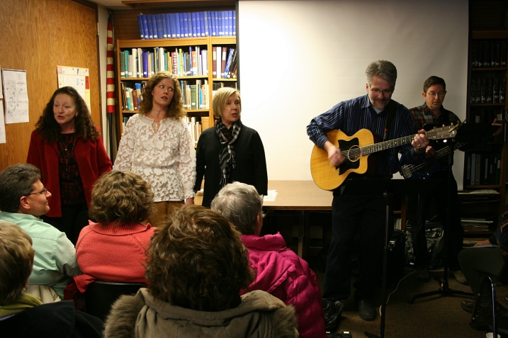 """Christina Schweitz, second from left, says is is """"an honor"""" to perform as one of The Three Sisters in The Merlin Players' play, Ten November."""