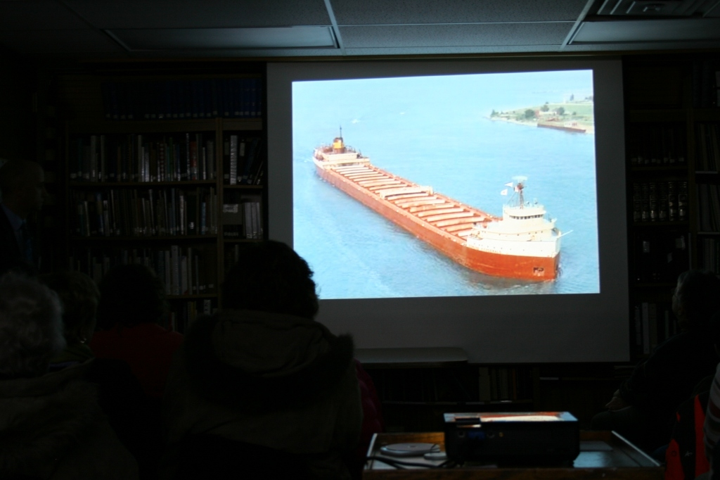 Another photo from Jim Christian's presentation shows the 729-foot long Edmund Fitzgerald.