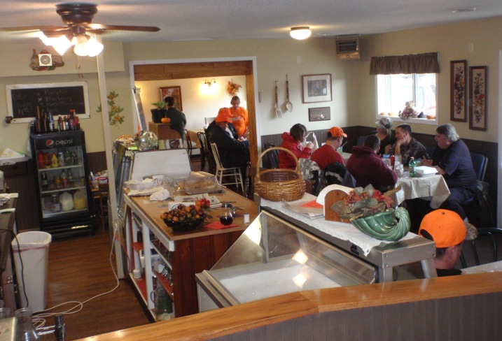 Dining at the Emmaville Store cafe.