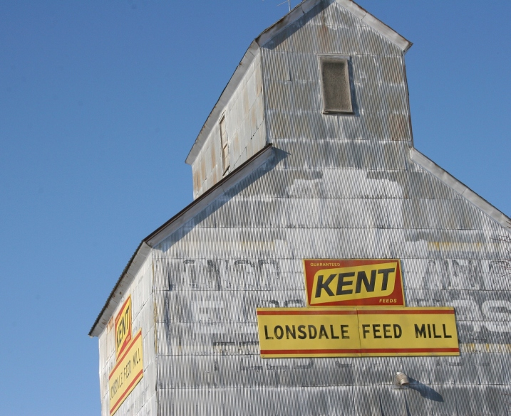 Feed mill, close-up top
