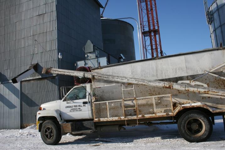 Feed mill, truck
