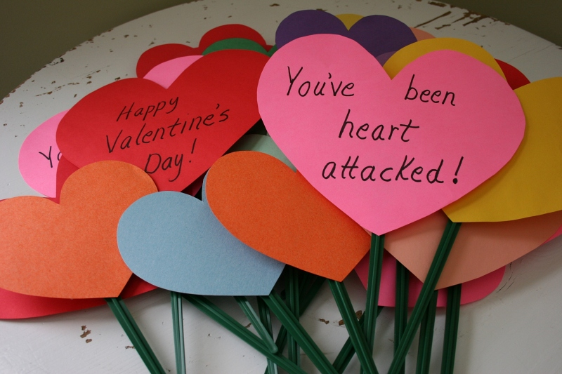Piling up the hearts in anticipation of Operation Heart Attack.