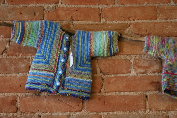 Sweet handcrafted sweaters at Acorn Studio.