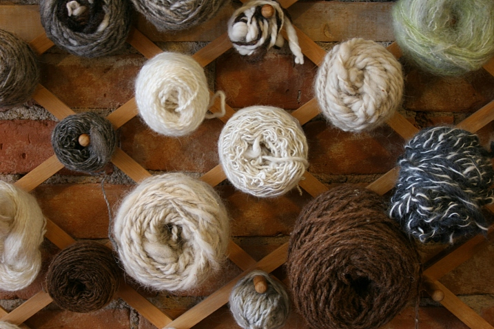 Yarn for sale at Acorn  Studio.