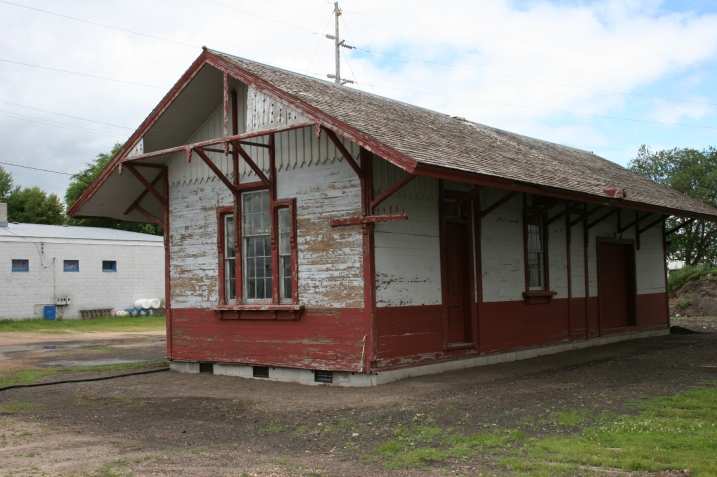 This depot was moved into Amboy from Huntley and now serves as a welcome center for those attending the town's annual Arts 'n' More Festival.