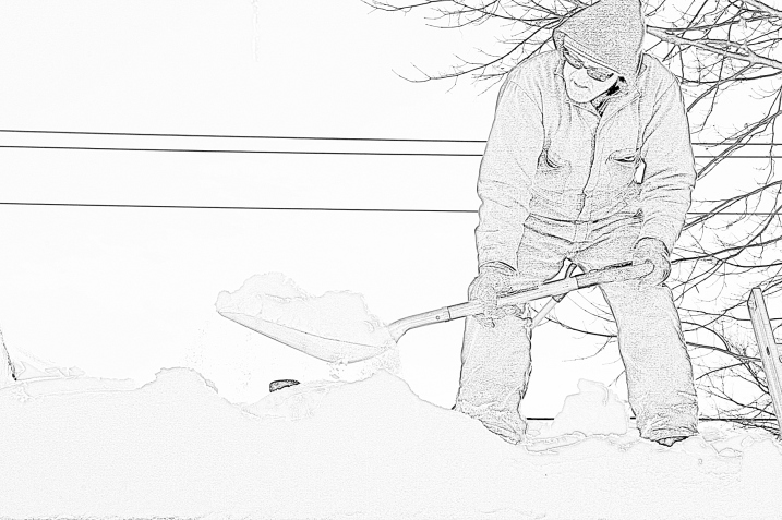 Rooftop snow removal 1