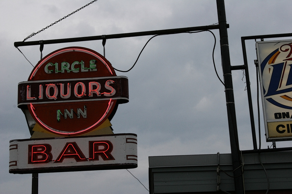 In North Mankato, signage at Circle Inn. Minnesota Prairie Roots file photo 2011.