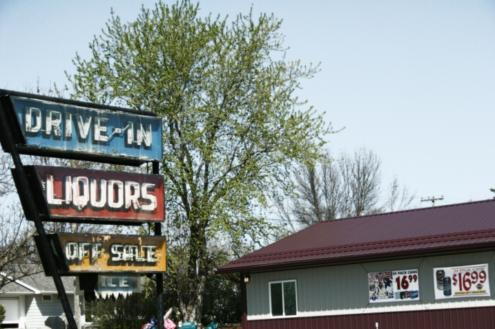 How cool is this signage at Drive-In Liquors along U.S. Highway 14 in Springfield in my native southwestern Minnesota? Minnesota Prairie Roots file photo 2012.