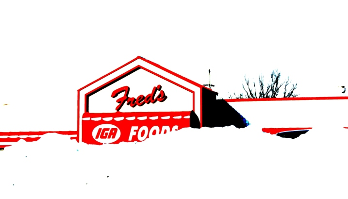 An edited photo of Fred's Foods.