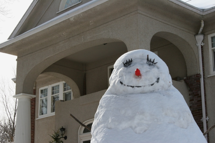 Snowman, really up close