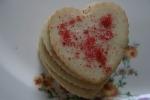 Valentine cookies, stacked